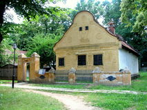 Traditional Romanian house. At the Village Museum of Bucharest Stock Photo