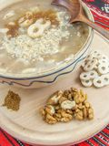 Traditional romanian march dish mucenici stock images