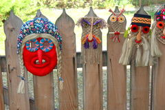 Traditional romanian masks Royalty Free Stock Photos