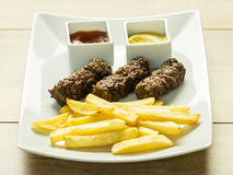 Traditional Romanian Mici Royalty Free Stock Photography