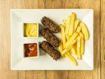 Traditional Romanian Mici Stock Photos