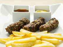 Traditional Romanian Mici Plate Close Up Stock Image