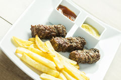 Traditional Romanian Mici Plate Close Up Royalty Free Stock Images