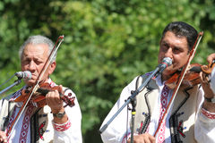Traditional Romanian musicians Stock Photos