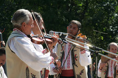 Traditional Romanian musicians Royalty Free Stock Photos