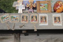 Traditional Romanian Orthodox icons Stock Photo