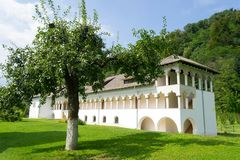 Traditional romanian orthodox monastery building Stock Images