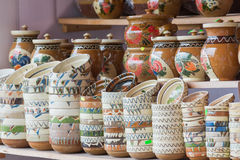 Traditional romanian pottery Royalty Free Stock Photography