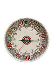 Traditional romanian pottery clock Stock Images
