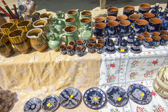 Traditional romanian pottery Stock Images