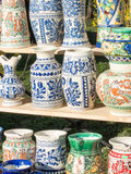 Traditional romanian pottery mug Royalty Free Stock Image