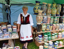 Traditional Romanian Pottery Stock Photo