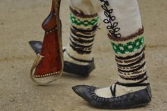 Traditional romanian sandals 2 Royalty Free Stock Photography
