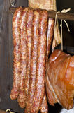 Traditional Romanian smoked meat Royalty Free Stock Photo
