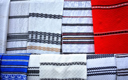 Traditional Romanian towels Stock Photography