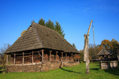 Traditional  romanian village Stock Photos
