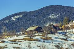 Traditional Romanian village Stock Image