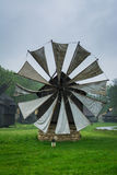 Traditional romanian wind mill Stock Photos