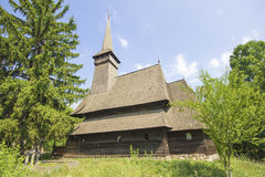 Traditional romanian wooden church Stock Images