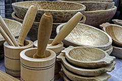 Traditional romanian wooden objects Royalty Free Stock Image