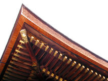 Traditional roof. Detail of a Japanese roof temple...natural isolation Stock Photo