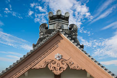 Traditional roof of ancient japanese building. Stock Photography