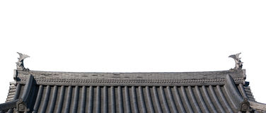 Traditional roof of ancient japanese building. Royalty Free Stock Images