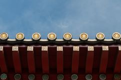 Traditional roof of Chinese buildings royalty free stock photo