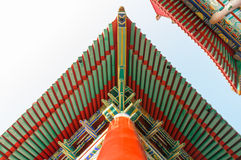 Traditional Roof Chinese style. At Wat Leng-Noei-Yi, Thailand Royalty Free Stock Photos