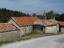 Traditional roof in Istria Royalty Free Stock Images