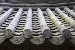 Traditional Roof, South Korea Royalty Free Stock Images