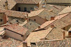 Traditional roofs of Albarracin Stock Photography