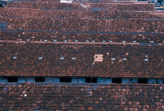 Traditional roofs, India. Roofs of Chowls made in mangalori tiles. Mumbai Maharashtra, India Stock Images