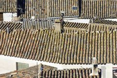Traditional roofs Stock Images