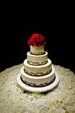 Traditional Round Four Tiered Wedding Cake Stock Images