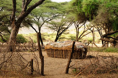 Traditional round house of people from the Samburu tribe Stock Images