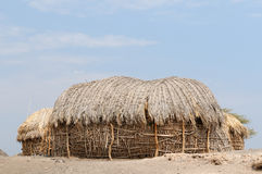 Traditional round house of people from the Turkana tribe Royalty Free Stock Photo