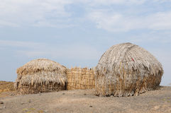 Traditional round house of people from the Turkana tribe Stock Images