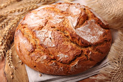 Traditional round rye bread Stock Photography