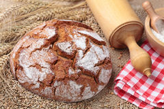 Traditional round rye bread Royalty Free Stock Photo