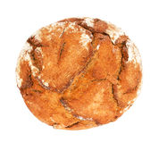Traditional round rye bread. Stock Photo