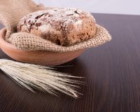 Traditional round rye bread Stock Photos