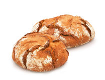 Traditional round rye bread. Royalty Free Stock Photos