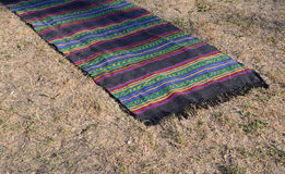 Traditional rug on Sofia, Bulgaria august 2016. Traditional rug on Sofia, Bulgaria Royalty Free Stock Photos