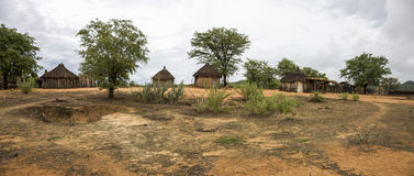 Traditional rural African Himba huts close to Etosha National Pa Royalty Free Stock Photography