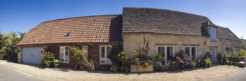 Traditional rural homes scene Royalty Free Stock Photo