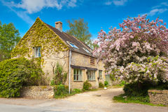 Traditional rural homes scene Royalty Free Stock Image
