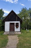 Traditional rural house in open air museum, Bran, Romania royalty free stock photography