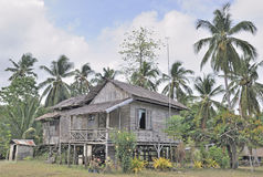 Traditional rural house in Philippines Royalty Free Stock Photos