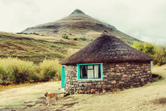 Traditional Rural House - Retro Image Stock Photos